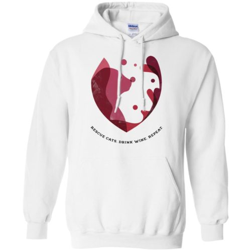 Cat Wine Splash Pullover Hoodie