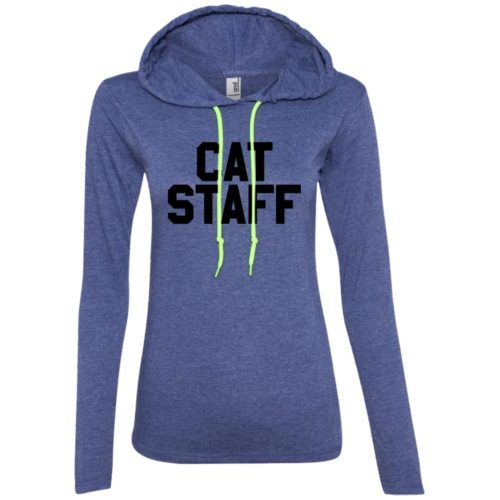 Cat Staff Fitted T-Shirt Hoodie
