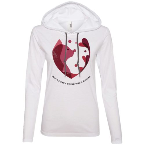 Cat Wine Splash Fitted T-Shirt Hoodie