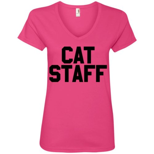 Cat Staff Ladies' Premium V-Neck