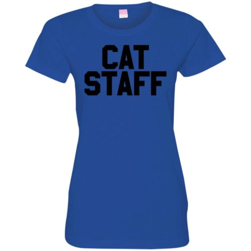 Cat Staff Fitted Tee