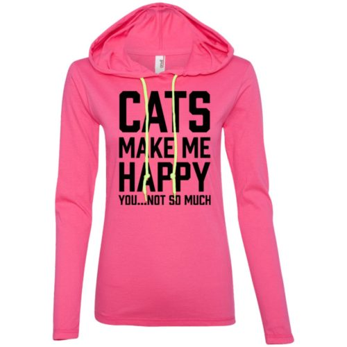 Cats Make Me Happy Fitted T-Shirt Hoodie
