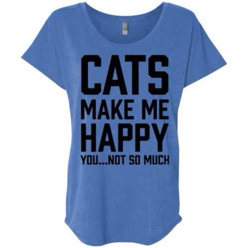 Cats Make Me Happy Slouchy Tee