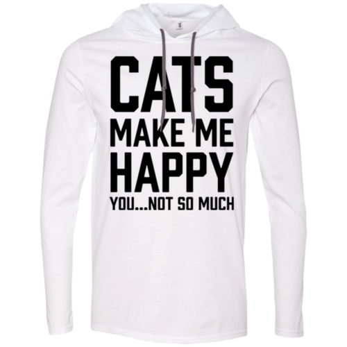Cats Make Me Happy T-Shirt Hoodie