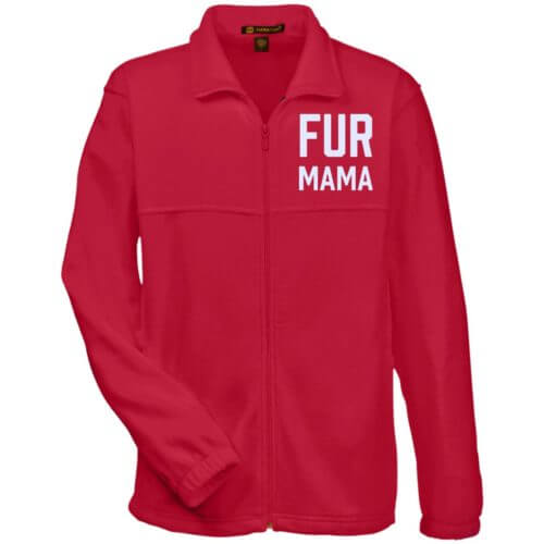 Fur Mama Embroidered Fleece Full Zip Jacket