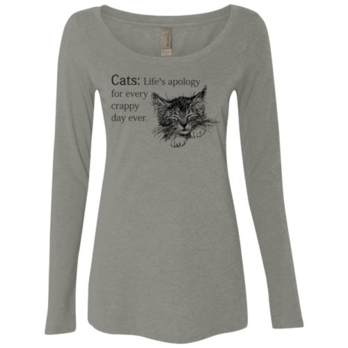 Every Crappy Day Ladies' Scoop Neck Long Sleeve Shirt