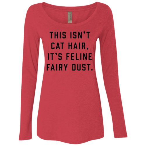 Feline Fairy Dust Fitted Scoop Neck Long Sleeve