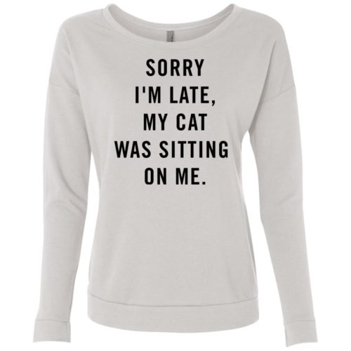 Sitting Cat Scoop Neck Sweatshirt