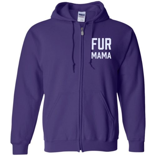 Fur Mama Embroidered Zip Hoodie