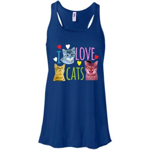 I Love Cats Flowy Tank