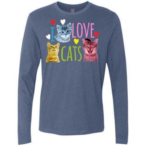 I Love Cats Premium Long Sleeve Tee