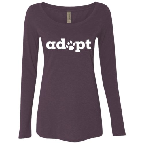 Adopt Paw Fitted Scoop Neck Long Sleeve