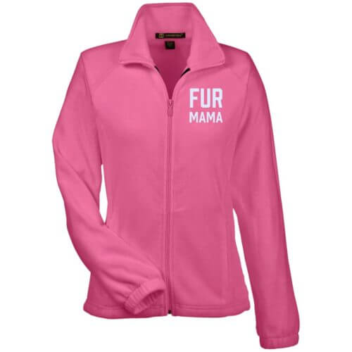 Fur Mama Embroidered Ladies' Fleece Full Zip Jacket