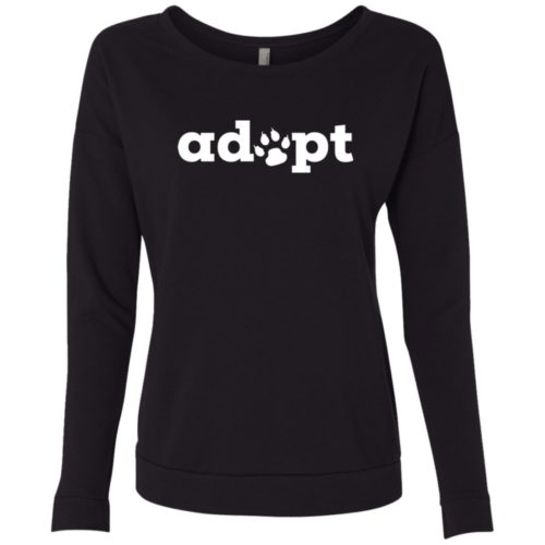 Adopt Paw Scoop Neck Sweatshirt