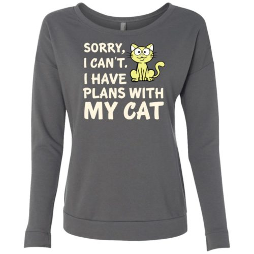 I Have Plans Scoop Neck Sweatshirt
