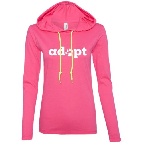 Adopt Paw Ladies' Lightweight T-Shirt Hoodie