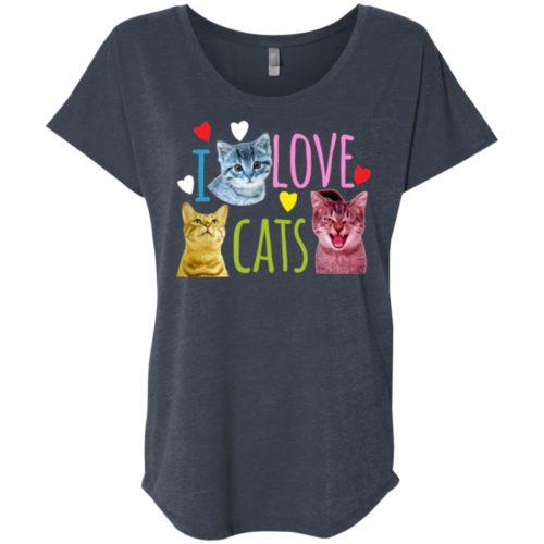 I Love Cats Slouchy Tee