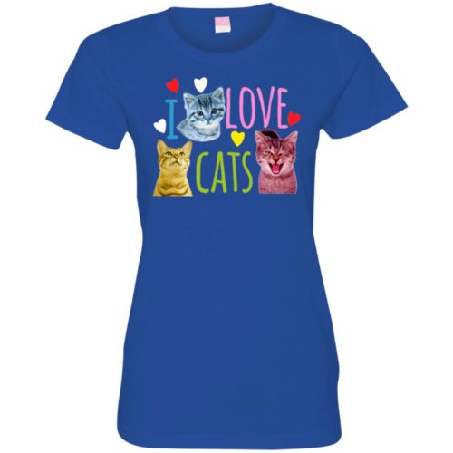I Love Cats Fitted Tee