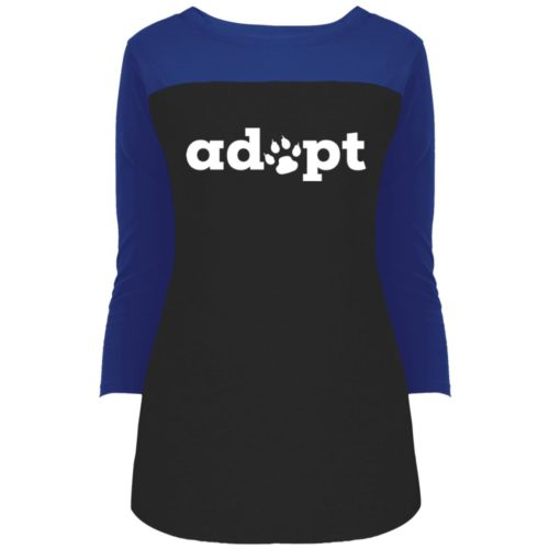 Adopt Paw Colorblock 3/4 Sleeve
