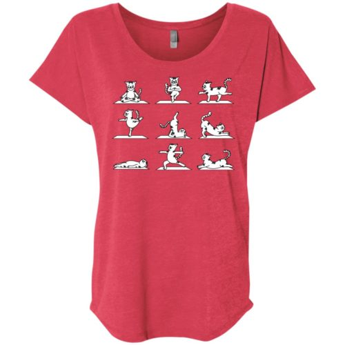 Cat Yoga Slouchy Tee