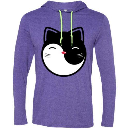 Yin Yang Cat T-Shirt Hoodie
