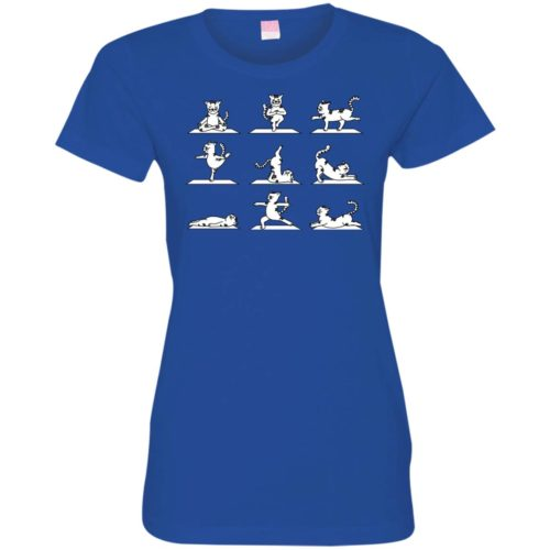 Cat Yoga Fitted Tee