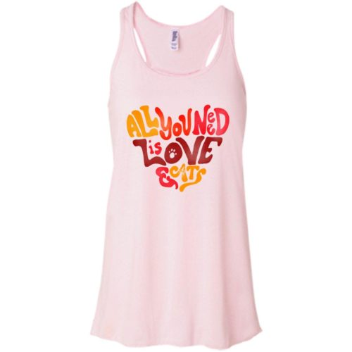 All You Need Is Love & Cats Flowy Tank