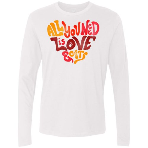 All You Need Is Love & Cats Premium Long Sleeve Tee