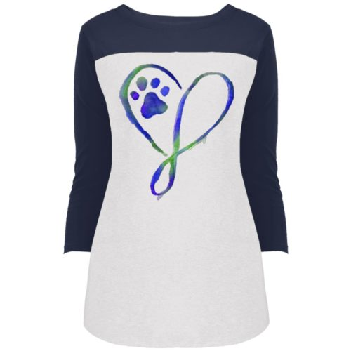 Elegant Heart Colorblock 3/4 Sleeve