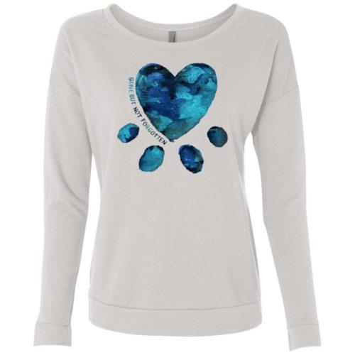 Gone But Not Forgotten Watercolor Ladies' Scoop Neck Sweatshirt