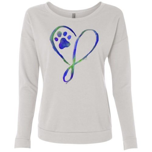 Elegant Heart Scoop Neck Sweatshirt
