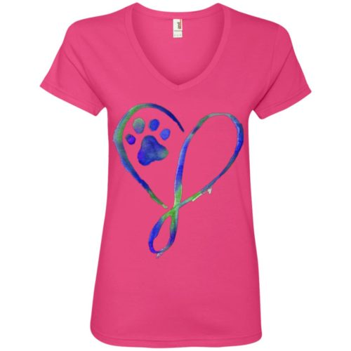 Elegant Heart V-Neck Tee
