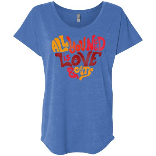 All You Need Is Love & Cats Slouchy Tee