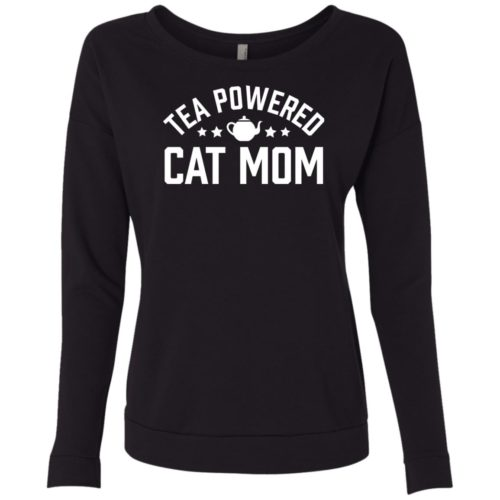 Tea Powered Mom Scoop Neck Sweatshirt
