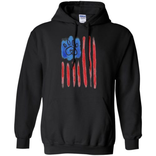 American Flag Paw Pullover Hoodie