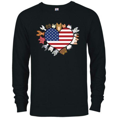 Heart Cat USA Premium Crew Neck Sweatshirt