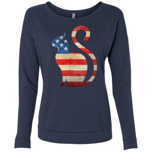 Vintage Cat USA Scoop Neck Sweatshirt
