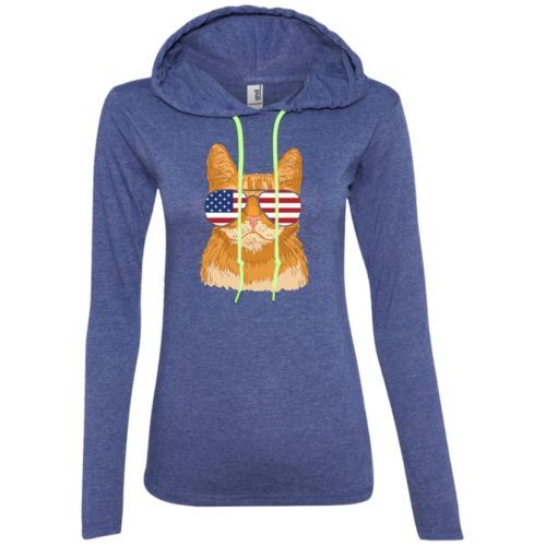 Cool Cat USA Ladies' Lightweight T-Shirt Hoodie
