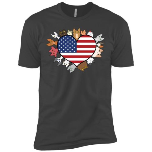 Heart Cat USA Premium Tee