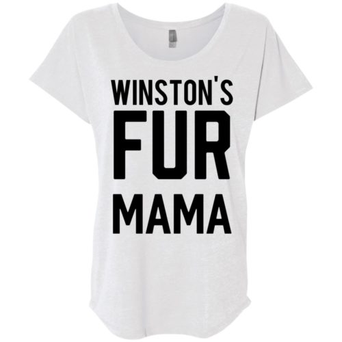 Fur Mama Ladies' Personalized Slouchy T-Shirt