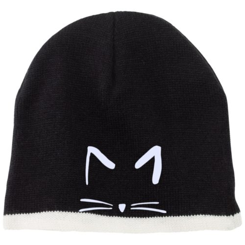 Cat Sketch Embroidered Beanie