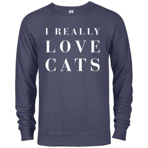 I Really Love Cats Premium Crew Neck Sweatshirt