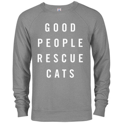 Good People Rescue Cats Premium Crew Neck Sweatshirt