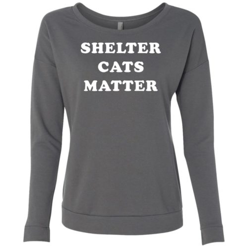Shelter Cats Matter Scoop Neck Sweatshirt