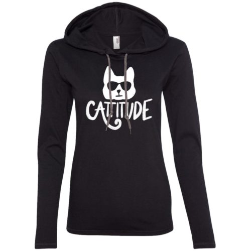 Cattitude Fitted T-Shirt Hoodie