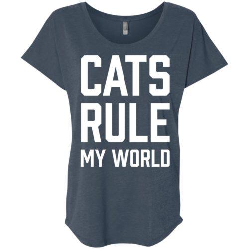 Cats Rule My World Slouchy Tee