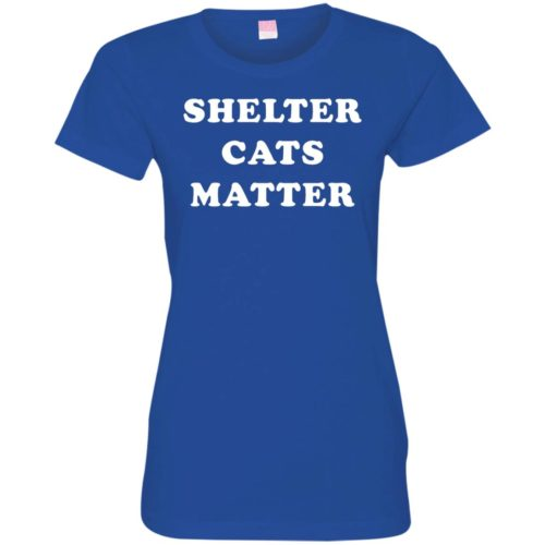 Shelter Cats Matter Fitted Tee