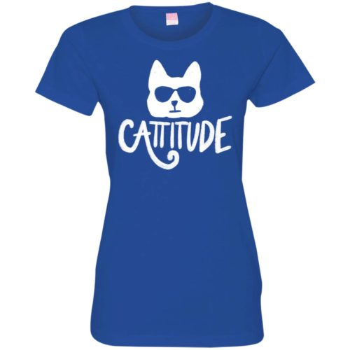Cattitude Fitted Tee