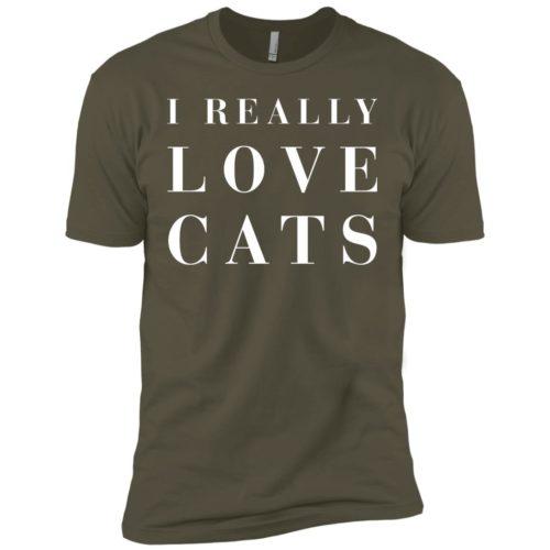 I Really Love Cats Premium Tee