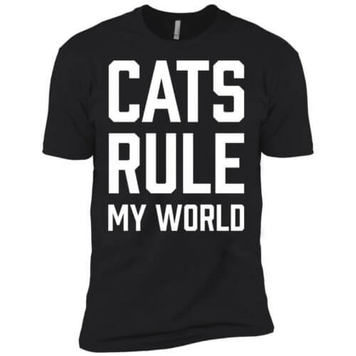 Cats Rule My World Premium Tee